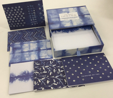 Load image into Gallery viewer, Indigo Notecards Set of 16