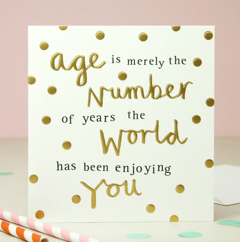 Age Is Merely Number Happy Birthday