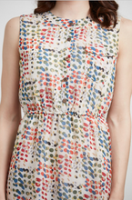 Load image into Gallery viewer, Colorful Abstract Circle Print Dress
