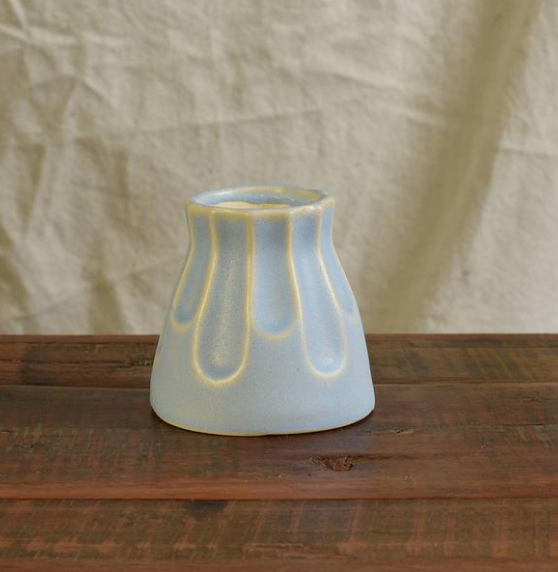 Margot Vase Scallop Matte Blue