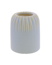 Load image into Gallery viewer, Margot Vase Stripe Matte Blue