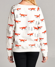 Load image into Gallery viewer, All Over Fox Grey Sweatshirt - Plus Size