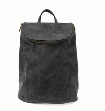 Load image into Gallery viewer, Alyssa Distressed Backpack Black