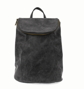 Alyssa Distressed Backpack Black