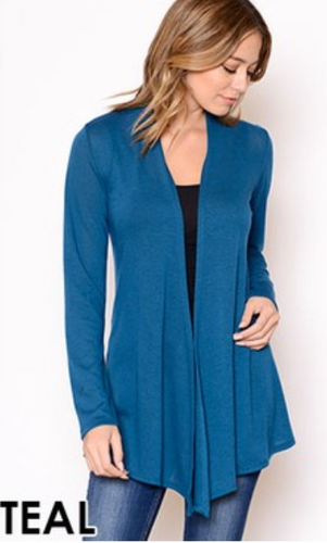 Cardigan Sweater Teal S