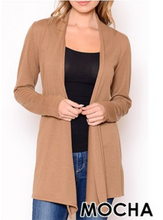 Load image into Gallery viewer, Cardigan Sweater Mocha S