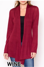 Load image into Gallery viewer, Cardigan Sweater Wine S