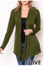 Load image into Gallery viewer, Cardigan Sweater Olive S
