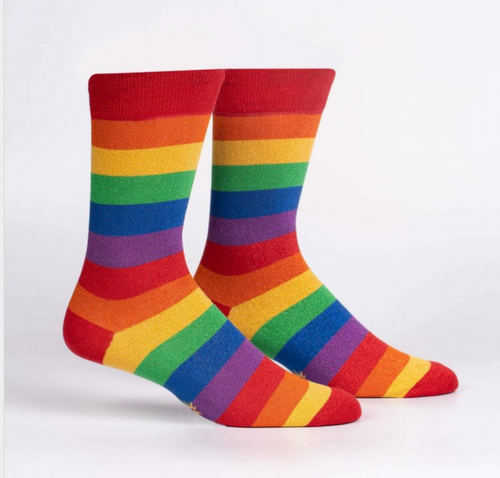 March w/ Pride Shimmer Men's Socks