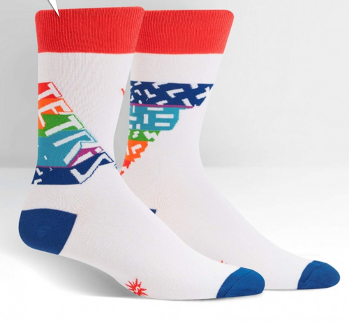 Tetris Retro Logo Men's Crew Socks