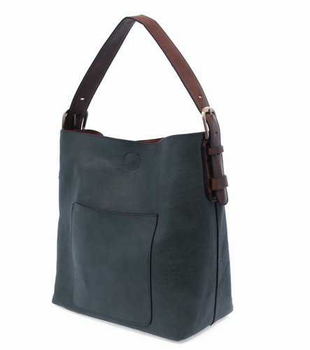 Dark Chambray w/Brown Handle Bag