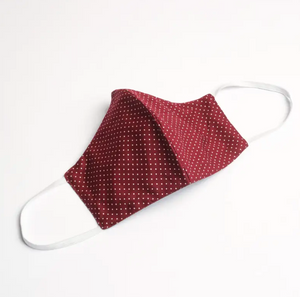 Mulberry & Grand Face Mask Maroon Dot