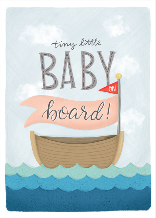 Tiny Little Baby On Board Card