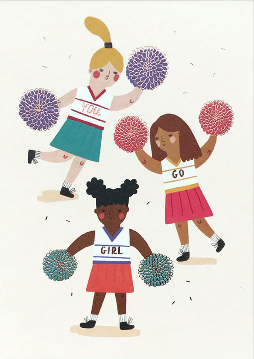 You Go Girl Cheerleader Card