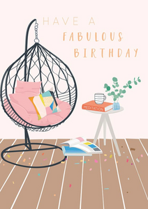 Chair Birthday Card
