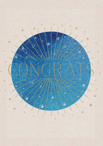 Shining Star Congrats Card