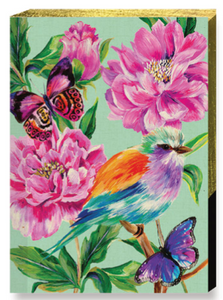 Bird Rose Garden Mini Notebook