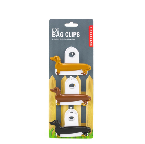Dauschund Dog Bag Clips