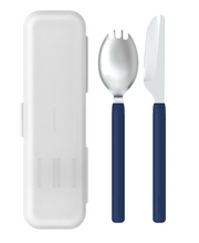 Load image into Gallery viewer, Navy Blue Travel Utensil Set