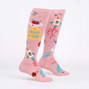 I Believe in Craft - Knee High Socks