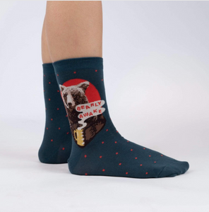 Bearly Awake - Womens Crew Sock