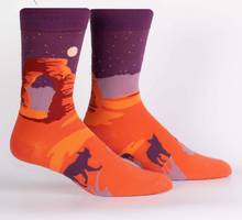 Load image into Gallery viewer, Delicate Arch Mens Crew Sock