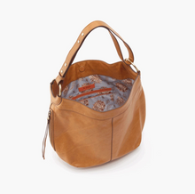 Load image into Gallery viewer, Honey Brown Port Leather Handbag