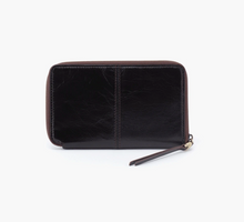 Load image into Gallery viewer, Black Rave Leather Zip Wallet