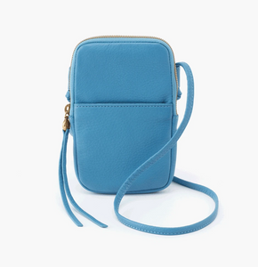 Dusty Blue Fate Leather Crossbody Bag