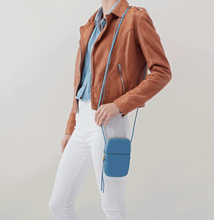 Load image into Gallery viewer, Dusty Blue Fate Leather Crossbody Bag