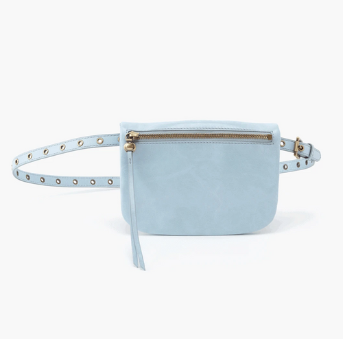 Whisper Blue Saunter Leather Belt Bag