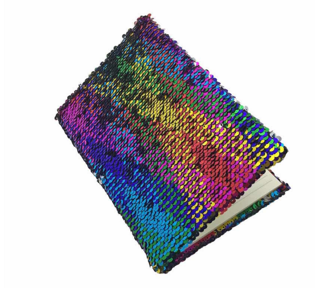Rainbow Sequin Journal