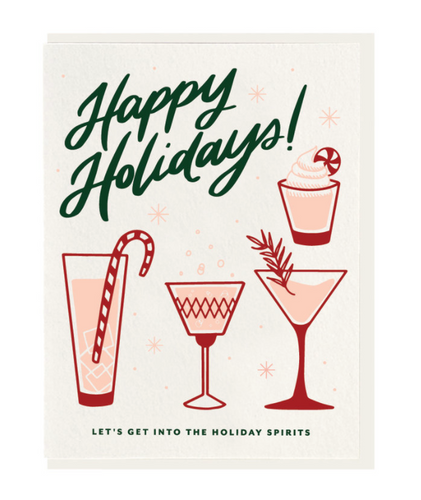 Happy Holidays Drinks Card