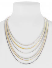 Load image into Gallery viewer, Short Layered Chain Necklace Gold Mix
