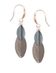 Layered Leaf Painted Earrings Taupe