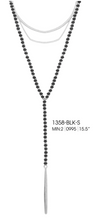 Load image into Gallery viewer, Beaded Layer Chain Pendant Grey