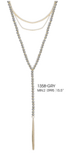 Load image into Gallery viewer, Beaded Layer Chain Pendant Black and Gol