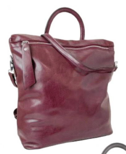 Vegan Leather Convertible Backpack Borde