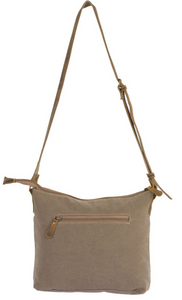 Light Blue Canvas Leather Crossbody