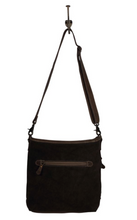 Load image into Gallery viewer, Diamond Canvas Leather Shoulder Bag