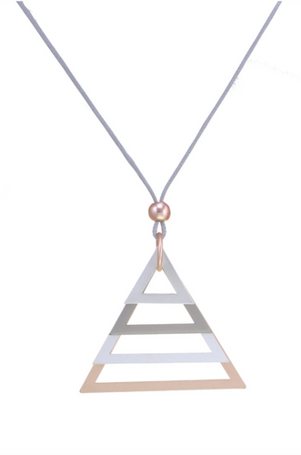 Gold/Silver Multi Triangles Necklace