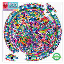Load image into Gallery viewer, Eeboo 500 Piece Puzzle Triangle Pattern