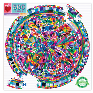 Eeboo 500 Piece Puzzle Triangle Pattern