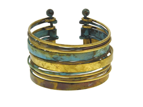Multi Piece Mixed Metal Cuff Bracelet