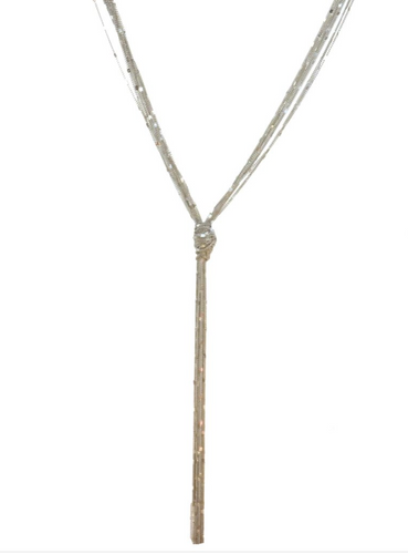 Long Multi Knotted Chain Necklace