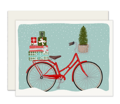 Holiday Bicycle Cards - Set of 6