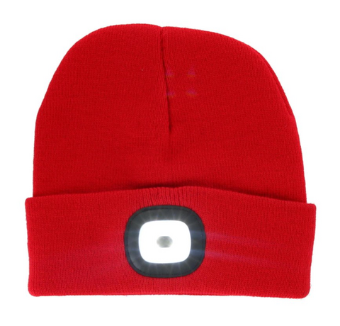 Flash Light Beanies Red