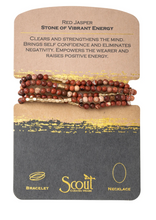 Load image into Gallery viewer, Scout Wrap Stone Bracelets Red Jasper