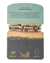 Load image into Gallery viewer, Scout Wrap Stone Bracelets Aqua Terra