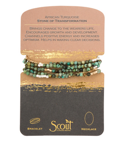 Scout Wrap Stone Bracelets African Turqu